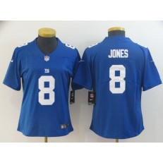 Women Nike New York Giants #8 Daniel Jones Royal Vapor Untouchable Limited Jersey