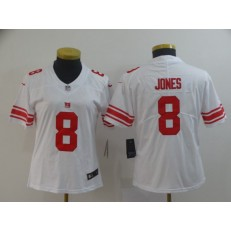 Women Nike New York Giants #8 Daniel Jones White Vapor Untouchable Limited Jersey