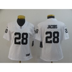 Women Nike Oakland Raiders #28 Josh Jacobs White Women Vapor Untouchable Limited Jersey