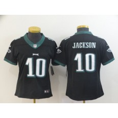 Women Nike Philadelphia Eagles #10 DeSean Jackson Black Vapor Untouchable Limited Jersey