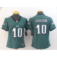Women Nike Philadelphia Eagles #10 DeSean Jackson Green Vapor Untouchable Limited Jersey