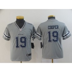 Youth Nike Dallas Cowboys #19 Amari Cooper Gray Inverted Legend Limited Jersey