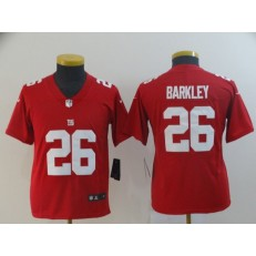 Youth Nike New York Giants #26 Saquon Barkley Red Inverted Legend Limited Jersey