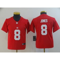 Youth Nike New York Giants #8 Daniel Jones Red Inverted Legend Limited Jersey