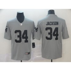 Oakland Raiders #34 Bo Jackson Gray Inverted Legend Limited Nike NFL Men Jersey