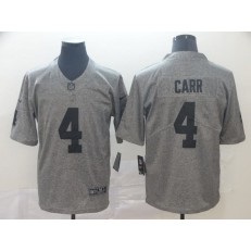 Oakland Raiders #4 Derek Carr Gray Gridiron Gray Vapor Untouchable Limited Nike NFL Men Jersey