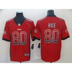 San Francisco 49ers #80 Jerry Rice Red Drift Fashion Limited Nike NFL Men Jersey
