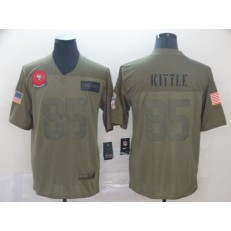 San Francisco 49ers #85 George Kittle 2019 Olive Salute To Service Limited Nike NFL Men Jersey