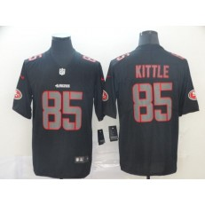 San Francisco 49ers #85 George Kittle Black Impact Rush Limited Nike NFL Men Jersey