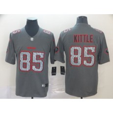 San Francisco 49ers #85 George Kittle Gray Camo Vapor Untouchable Limited NFL Nike Men Jersey