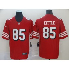 San Francisco 49ers #85 George Kittle Red Color Rush Vapor Untouchable Limited NFL Nike Men Jersey