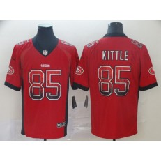 San Francisco 49ers #85 George Kittle Red Drift Fashion Limited Nike NFL Men Jersey