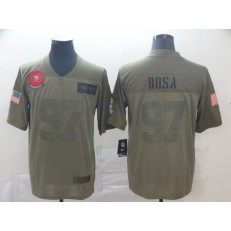 San Francisco 49ers #97 Nick Bosa 2019 Olive Salute To Service Limited Nike NFL Men Jersey