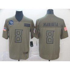 Tennessee Titans #8 Marcus Mariota 2019 Olive Salute To Service Limited Nike NFL Men Jersey