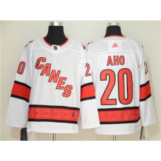 Carolina Hurricanes #20 Sebastian Aho White Adidas NHL Men Jersey