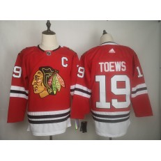 Chicago Blackhawks #19 Jonthan Toews Red Adidas NHL Men Jersey