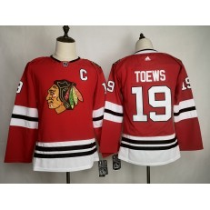 Chicago Blackhawks #19 Jonthan Toews Red Youth Adidas NHL Jersey