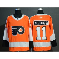 Philadelphia Flyers #11 Travis Konecny Orange Adidas NHL Men Jersey