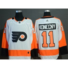 Philadelphia Flyers #11 Travis Konecny White Adidas NHL Men Jersey