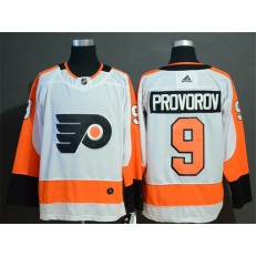 Philadelphia Flyers #9 Ivan Provorov White Adidas NHL Men Jersey