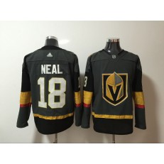 Vegas Golden Knights #18 James Neal Gray With Special Glittery Logo Adidas NHL Men Jersey