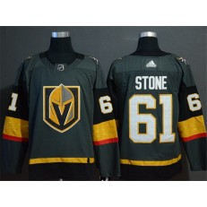 Vegas Golden Knights #61 Mark Stone Gray With Special Glittery Logo Adidas NHL Men Jersey