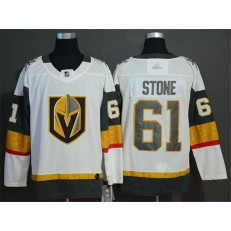 Vegas Golden Knights #61 Mark Stone White With Special Glittery Logo Adidas NHL Men Jersey