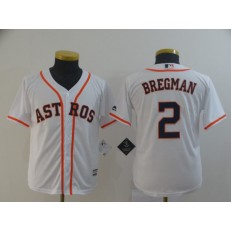 MLB Houston Astros #2 Alex Bregman White Youth Cool Base Jersey