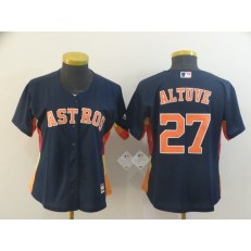MLB Houston Astros #27 Jose Altuve Navy Women Cool Base Jersey