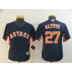 MLB Houston Astros #27 Jose Altuve Navy Youth Cool Base Jersey