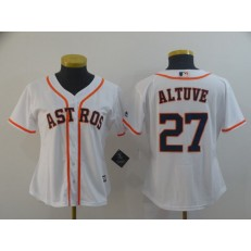 MLB Houston Astros #27 Jose Altuve White Women Cool Base Jersey