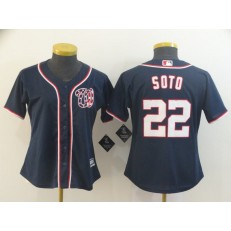 MLB Washington Nationals #22 Juan Soto Black Women Cool Base Jersey
