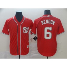 MLB Washington Nationals #6 Anthony Rendon Red Cool Base Jersey