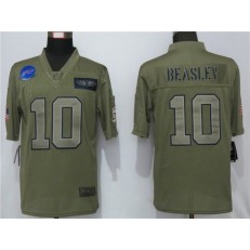 Buffalo Bills #10 Cole Beasley 2019 Olive Salute To Service Limited Nike NFL Men Jersey
