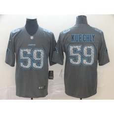 Carolina Panthers #59 Luke Kuechly Gray Camo Vapor Untouchable Limited Nike NFL Men Jersey