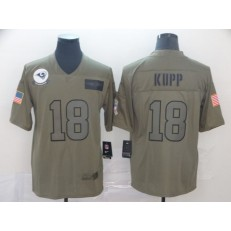 Los Angeles Rams #18 Cooper Kupp 2019 Olive Salute To Service Limited Nike NFL Men Jersey
