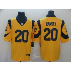 Los Angeles Rams #20 Jalen Ramsey Gold Color Rush Limited Nike NFL Men Jersey