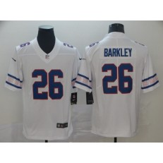 New York Giants #26 Saquon Barkley White Team Logos Fashion Vapor Limited Nike NFL Men Jersey