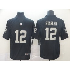 Oakland Raiders #12 Ken Stabler Black Vapor Untouchable Limited Nike NFL Men Jersey