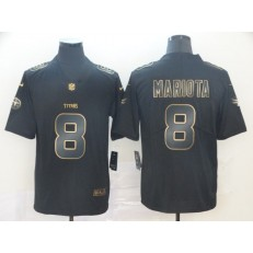 Tennessee Titans #8 Marcus Mariota Black Gold Vapor Untouchable Limited Nike NFL Men Jersey