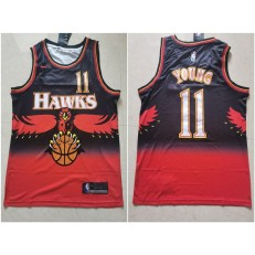 Atlanta Hawks #11 Trae Young Red Nike Throwback Swingman Jersey