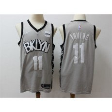 Brooklyn Nets #11 Kyrie Irving Gray Nike Swingman Jersey