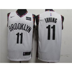 Brooklyn Nets #11 Kyrie Irving White Nike Swingman Jersey