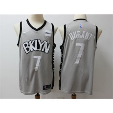 Brooklyn Nets #7 Kevin Durant Gray Nike Swingman Jersey
