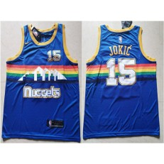 Denver Nuggets #15 Nikola Jokic Blue Nike Swingman Jersey