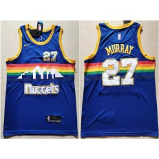 Denver Nuggets #27 Jamal Murray Blue Nike Swingman Jersey