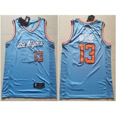Los Angeles Clippers #13 Paul George Light Blue Nike Swingman Jersey
