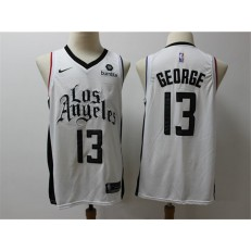 Los Angeles Clippers #13 Paul George White City Edition Nike Swingman Jersey