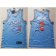 Los Angeles Clippers #2 Kawhi Leonard Light Blue Nike Swingman Jersey