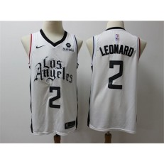 Los Angeles Clippers #2 Kawhi Leonard White City Edition Nike Swingman Jersey